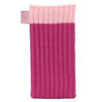 Розовый вязаный чехол носок для iPhone 5 / 5s / SE - Knit Stitch Pouch Bag Pink