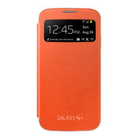 Чехол c окном S View Cover Orange для Samsung Galaxy S4 mini оранжевый