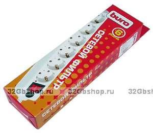 Сетевые фильтр Buro White 6 розеток 3 метра