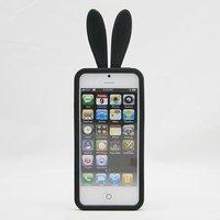 Силиконовая накладка Rabbit Ears Case для iPhone 5 / 5s / SE черная