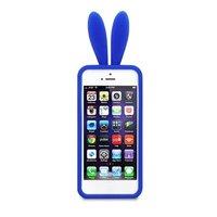 Силиконовая накладка Rabbit Ears Case для iPhone 5 / 5s / SE синяя