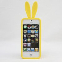 Силиконовая накладка Rabbit Ears Case для iPhone 5 / 5s / SE желтая