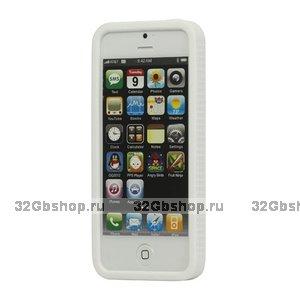 Силиконовый бампер для iPhone 5 / 5s / SE белый