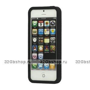 Силиконовый бампер для iPhone 5 / 5s / SE черный