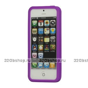 Силиконовый бампер для iPhone 5 / 5s / SE фиолетовый