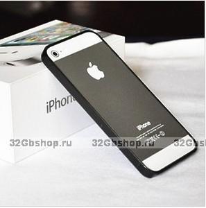 Силиконовый бампер Ultra Thin 0.2mm для iPhone 5 / 5s / SE черный