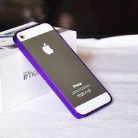 Силиконовый бампер Ultra Thin 0.2mm для iPhone 5 / 5s / SE фиолетовый
