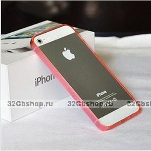 Силиконовый бампер Ultra Thin 0.2mm для iPhone 5 / 5s / SE красный