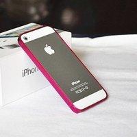 Силиконовый бампер Ultra Thin 0.2mm для iPhone 5 / 5s / SE малиновый