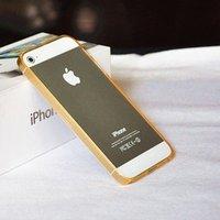 Силиконовый бампер Ultra Thin 0.2mm для iPhone 5 / 5s / SE оранжевый