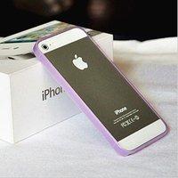 Силиконовый бампер Ultra Thin 0.2mm для iPhone 5 / 5s / SE розовый