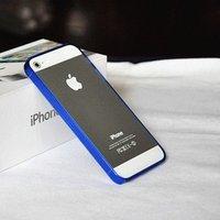 Силиконовый бампер Ultra Thin 0.2mm для iPhone 5 / 5s / SE синий