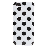 Силиконовый чехол для iPhone 5 / 5s / SE белый в черный горошек