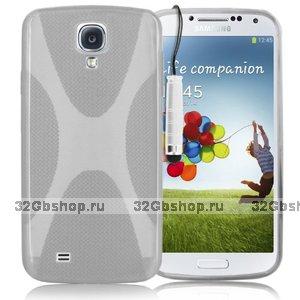 Силиконовый чехол для Samsung Galaxy S4 - X Style Case Transparent прозрачный