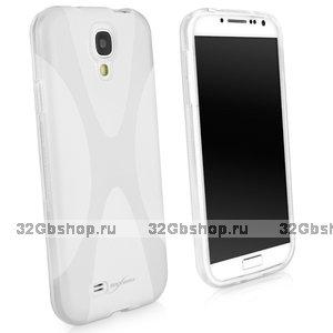 Силиконовый чехол для Samsung Galaxy S4 - X Style Case White белый