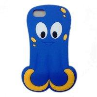Силиконовый чехол Octopus 3D Silicone Case Blue для iPhone 5 / 5s / SE синий осьминог