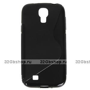 Силиконовый чехол S-Style для Samsung Galaxy S4 - S Style Soft Silicone Case Black - черный