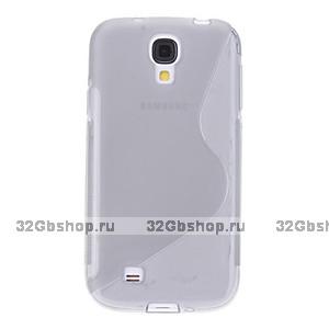 Силиконовый чехол S-Style для Samsung Galaxy S4 - S Style Soft Silicone Case Grey - серый