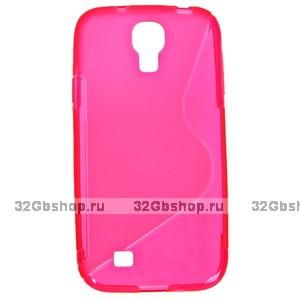 Силиконовый чехол S-Style для Samsung Galaxy S4 - S Style Soft Silicone Case Pink - розовый