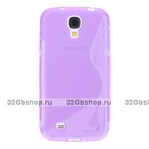Силиконовый чехол S-Style для Samsung Galaxy S4 - S Style Soft Silicone Case Purple - фиолетовый