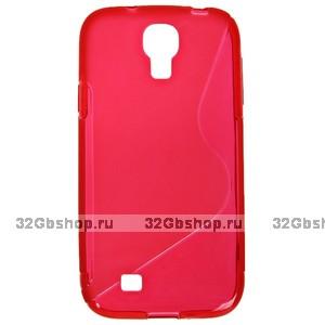 Силиконовый чехол S-Style для Samsung Galaxy S4 - S Style Soft Silicone Case Red - красный