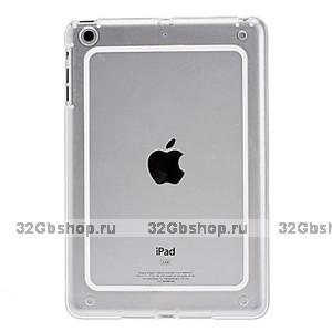 Бампер для iPad Mini прозрачный с белой вставкой