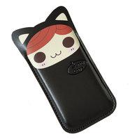 Чехол карман Sunny Day Cat Black Pouch для iPhone 5 / 5s / SE черный котик