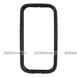 Силиконовый бампер для Samsung S4 - Black Siliсone Bumper for Samsung Galaxy S4 - черный