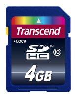 Карта памяти Transcend SDHC Class 10 4GB