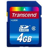 Карта памяти Transcend SDHC Class 6 4GB