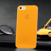 Ультратонкая накладка Ultra Thin Matte Crystal Case 0.5mm для iPhone 5 / 5s / SE оранжевая