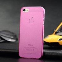 Ультратонкая накладка Ultra Thin Matte Crystal Case 0.5mm для iPhone 5 / 5s / SE розовая