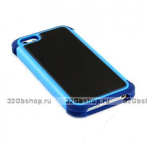 Задняя накладка с силиконовой вставкой для iPhone 5 / 5s / SE сине-черная