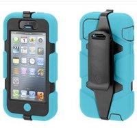 Защитный чехол Griffin Survivor Blue black iPhone 5 / 5s / SE - голубой с черным