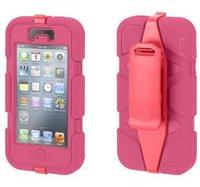 Защитный чехол Griffin Survivor Magenta iPhone 5 / 5s / SE - малиновый