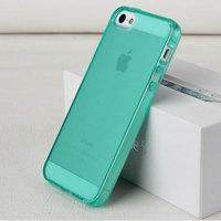 Зеленый прозрачный силиконовый чехол для iPhone 5s / SE / 5