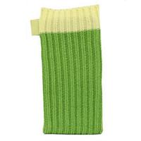 Зеленый вязаный чехол носок для iPhone 5 / 5s / SE - Knit Stitch Pouch Bag Green